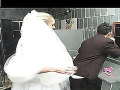 Outrageously hawt shemale bride getting fucking kicks after bridal ceremony