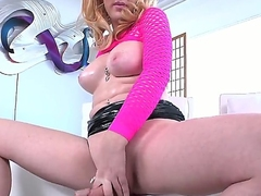 Enjoy nice beauteous shemale Juliette Stray being so horny and wanking her cock