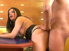 Appetizing and slutty shemale murkiness Yadi A was invited by her ex lover for a wild and hardcore fucking innings in front of the camera. Enjoy!