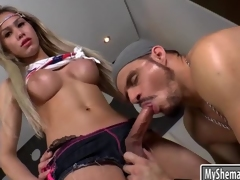 Lovely teen shemale ass fucked real hard