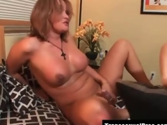 Tgirls Astrid Shay and Amy Daly bonking